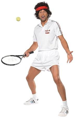 Smiffys - Disfraz de tenista para Hombre, Talla 38 - 40 ...