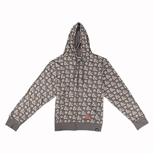 Loot Crate Dungeons and Dragons Ampersand Logo D20 Die Light Hoodie Exclusive (3XL)