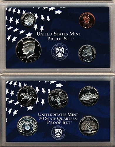 1999 U.S. Mint 9-coin Clad Proof Set - OGP box & COA Set Proof ()
