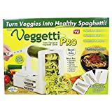 Veggetti Pro Table-Top Spiralizer, Quickly Spiral Slice Vegetables into Healthy Veggie Pasta