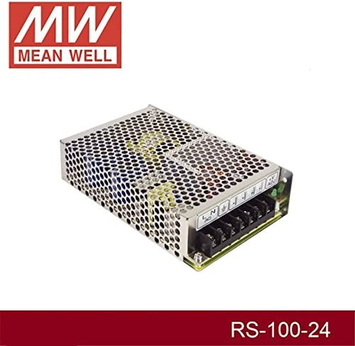 Enclosed Type 108W 24V 4.5A RS-100-24 Meanwell AC-DC Single Output RS-100 Series MEAN WELL Switching Power Supply