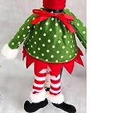 Tenworld 1 PC Polka Dot Hat + Dress Wine Bottle Cover Bags For Christmas Decoration