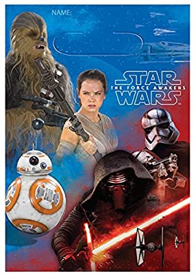 American Greetings Star Wars Episode VII Treat Bags, 8 Count, Party Supplies Novelty