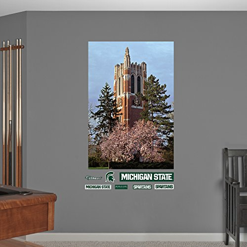 NCAA Michigan State Spartans Beaumont Tower Campus Mural Fathead Wall Decal, Real Big (Beaumont Tower)