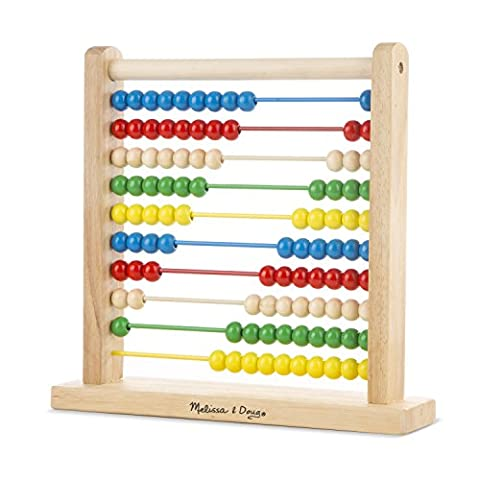 Melissa & Doug Abacus - Classic Wooden Educational Counting Toy With 100 Beads - Frame One Light
