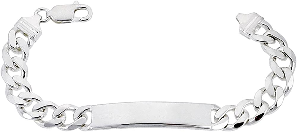 Sterling Silver ID Bracelet Curb Ranking TOP6 Assorted Nickel Widths Al sold out. Link Fre