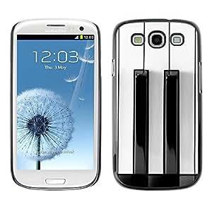 FECELL CITY // Duro Aluminio Pegatina PC Caso decorativo Funda Carcasa de Protección para Samsung Galaxy S3 I9300 // White Black Keys Minimalist Music