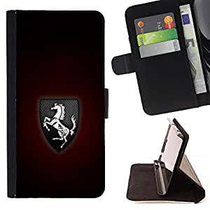 For LG G Stylo / LG LS770 / LG G4 Stylus Prancing Horse Logo Style PU Leather Case Wallet Flip Stand Flap Closure Cover