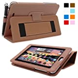 Nexus 7 Case, Snugg™ - Smart Cover with Flip Stand & Lifetime Guarantee (Distressed Brown Leather) for Nexus 7