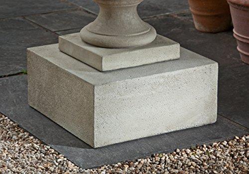 Campania International PD-173-VE Textured Square Pedestal, Low, Verde (Square Pedestal Cast)