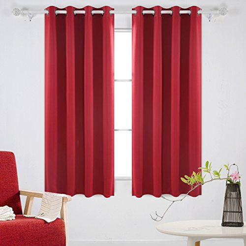 red and black kitchen curtains - 8