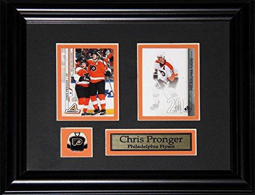 Chris Pronger Philadelphia Flyers 2 Card NHL Hockey Memorabilia Collector Frame