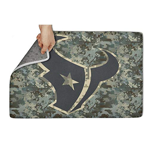 TYTYTY 23.5 inch x 15.5 inch Custom Army Camouflage Camo Veterans Day Entry Way Non Slip Entrance Indoor Outdoor Welcome Doormat Door Mat Decorative Home Office Hello Funny Dog Patio Welcome Rug ()