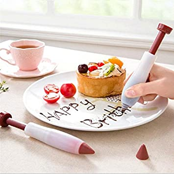 Inovey Silicone Cake Decorating Pen Dessert Pastry Cup Cake Ice