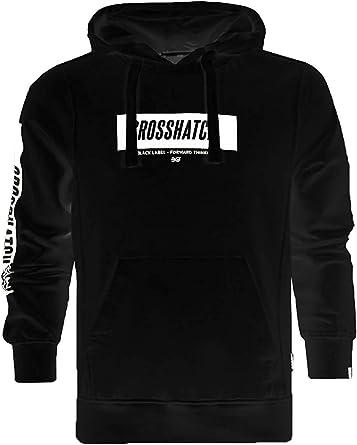 Crosshatch Mens Klatty Soft Fleece Lined Hoodie Designer Hooded Sweat Pullover
