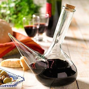 La Tienda Glass Porron Wine Pitcher (34 oz capacity)