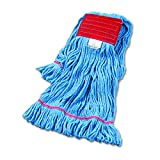 Boardwalk UNS 503BL BWK503BLCT Super Loop Wet Mop Head, Cotton/Synthetic, Large Size, Blue, (Pack of 12)