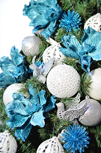 DecoKing Albero di Natale 220 cm Artificiale Abete di Decorazione Base Plastica Festa di Natale Verde Lena 3 spesavip