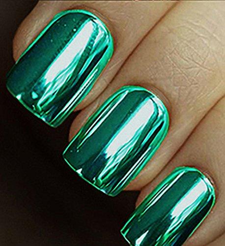 MINX NAILS Emerald City Chrome Minx, Emerald Green, 0.200 Ounce