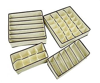 Yeme Storage Boxes Drawer Divider Bra Underwear Closet Organizer SET OF 4