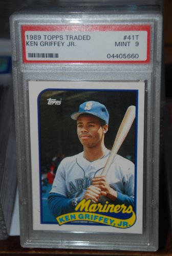 PSA 9 1989 Topps Traded Ken Griffey Jr Baseball Card #41T Seattle Mariners (Mariners Ken Seattle)