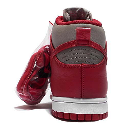 Nike Damen Dunk Retro QS Hallo Top Turnschuhe 854340 Turnschuhe Soft Grey University Rot 001
