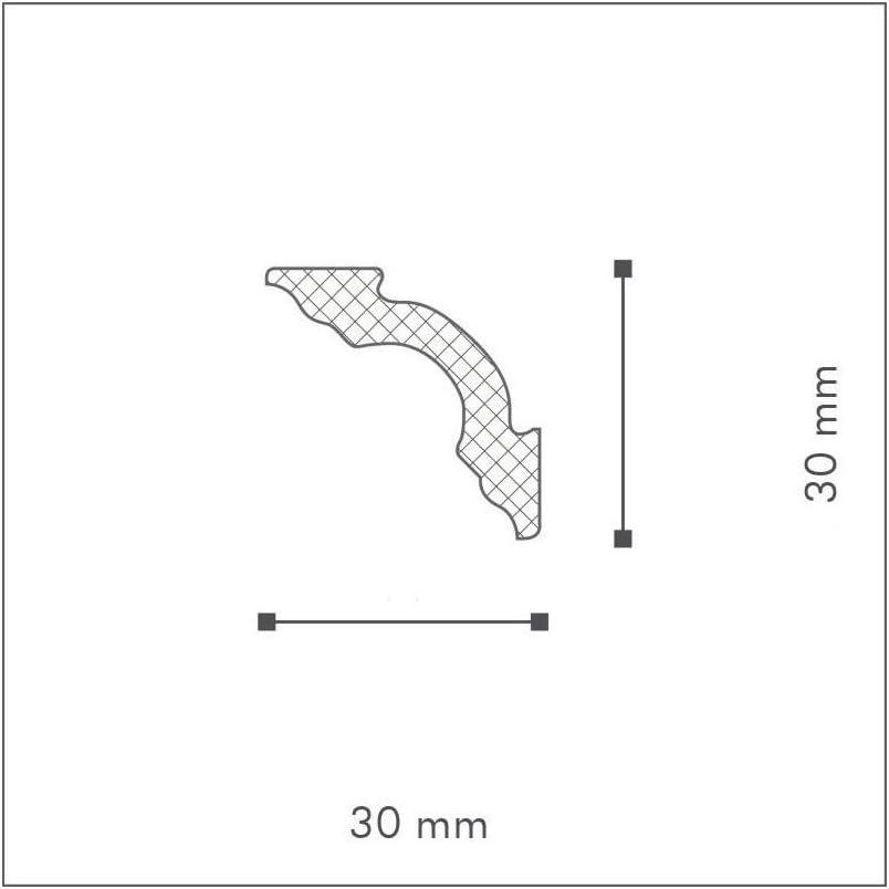 NMC Decoflair Eckleiste D12 Polystyrol