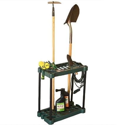 BS Garden Tool Organizer Rack Storage Floor Tools Holder Sturdy Lightweight  30 Handle Stand Up
