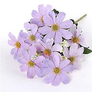 Auntwhale Simulation Artificial Daisy Flowers, Silk Flower Bouquet, Home Decor Wedding Decor Fake Flowers 37