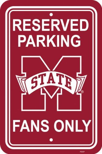 NCAA Mississippi State Bulldogs 12-by-18 inch Plastic Parking Sign