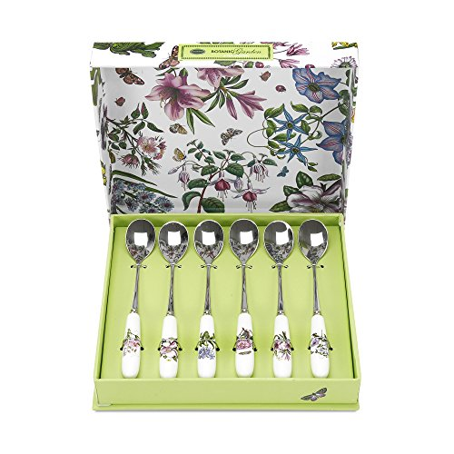 Portmeirion Botanic Garden Tea Spoons, Set of 6 (Botanic Garden Spoon)