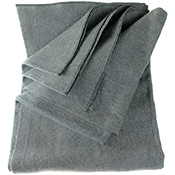 "SE BI64847GR Warm 4-lb. Blanket (64"" x 84"") with 80% Wool, Grey"