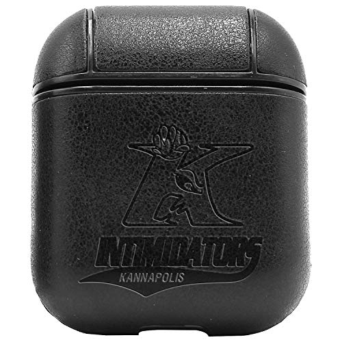 - Kannapolis INTIMIDATORS (Vintage Black) Engraved Air Pods Protective Leather Case Cover - a New Class of Luxury to Your AirPods - Premium PU Leather and Handmade exquisitely by Master Craftsmen