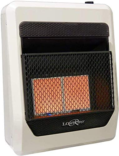 Lost River LR2TIR-LP Liquid Propane Gas Ventless Infrared Radiant Plaque Heater, 20,000 BTU, 18,000 BTU