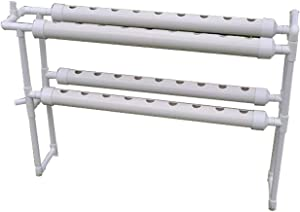 """INTBUYING Hydroponic 36 Holes Plant Site Grow Kit Garden System Vegetable Vertical Style Double Side -4 Pipes 2 Layer (Diameter of The Growing Pipe: 2.5"""")"""