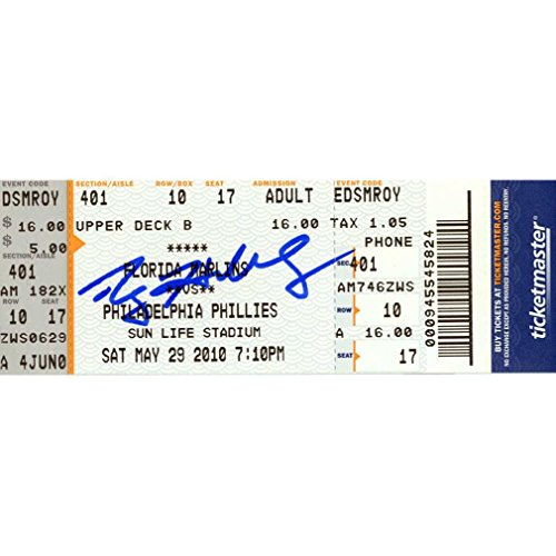 Roy Halladay PG Commemorative Ticket: 05/29/10 Marlins vs Phillies (MLB Auth)