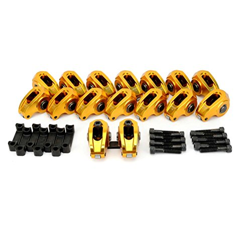 (Competition Cams 19024-16 Ultra-Gold Aluminum Roller 1.7 Ratio, 8mm Stud Diameter Rocker Arm for LS Series Engines)