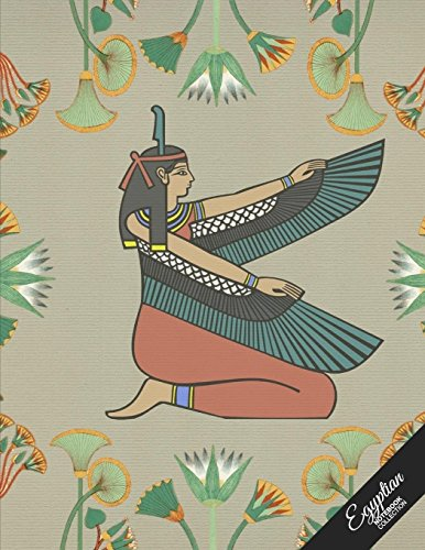 Egyptian Notebook Collection: Winged Woman, Journal/Diary, Wide Ruled, 100 Pages, 8.5 X 11, (Egyptian Art)
