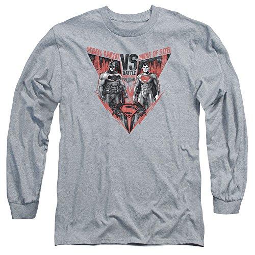 Trevco Men's Batman V Superman Batlle for Gotham Adult Ls T-Shirt at Gotham City Store