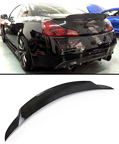 Cuztom Tuning for 2008-2015 G37 Q60 2 Door Coupe Carbon Fiber JDM Duckbill HIGHKICK Style Rear Trunk Spoiler