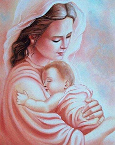 Taloyer DIY Motherhood 5D Diamond Rhinestone Painting Cross Stitch Kit Mosaic Home Decor Crafts (Motherhood Kit)