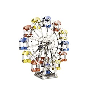 Eitech Classic Ferris Wheel Construction Set, Intro to Engineering and STEM Learning, Steel, 24 GHZ
