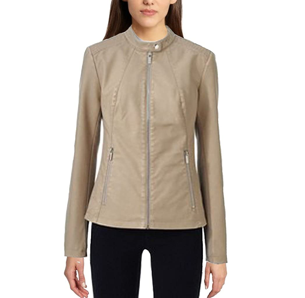 d1d3659ab Apt. 9® Faux-Leather Ivory Jacket - Women's Size Small at Amazon ...