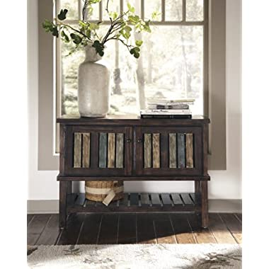 Signature Design by Ashley Mestler Rustic Brown Console Table