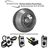 Vortex Powerfans VTX800 Vortex 747 CFM Powerfan, 8''
