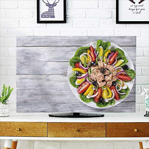 Analisahome Protect Your TV Tuna anchovies Eggs Green Been Slice Sweet Yellow Pepper red Onion Black Olives and Protect Your TV W32 x H51 INCH/TV (Onion Wall Mounted Outdoor Light)