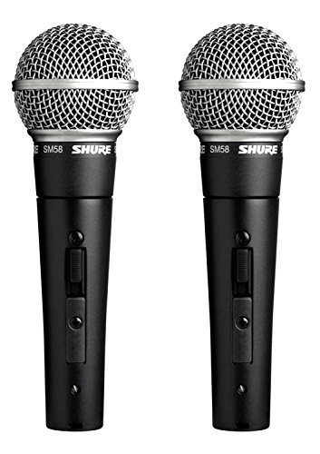 Shure SM58S Professional Vocal Microphone w/On/Off Switch (2 ()