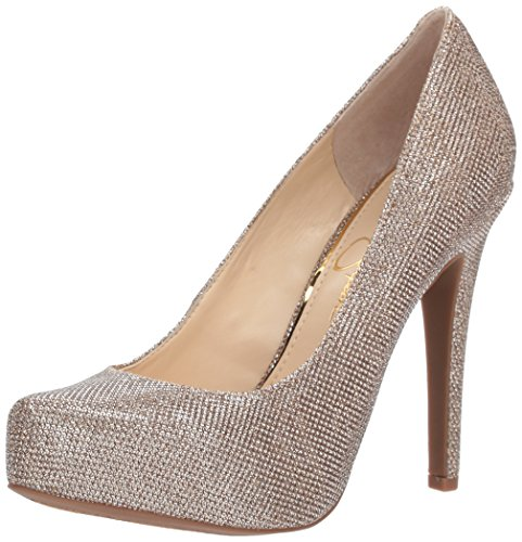 Jessica Simpson Women's Parisah Pump, Gold, 7.5 Medium - Jessica Gold