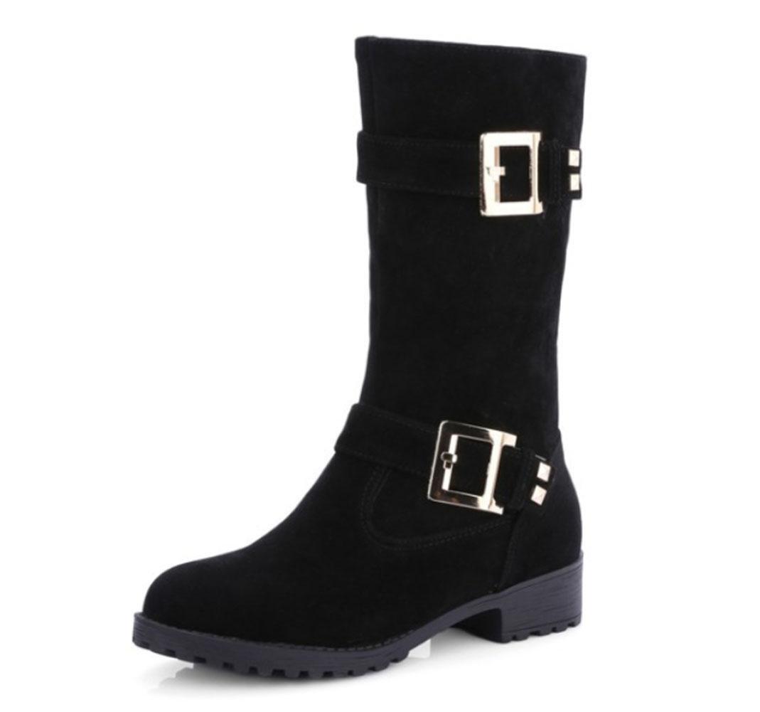 KUKI oto?o y invierno mujeres botas botas cintur¨®n mujer botas de gran tama?o botas mujer botas , Black , US5.5 / EU35 / UK3.5 / CN35 US5.5 / EU35 / UK3.5 / CN35|Black