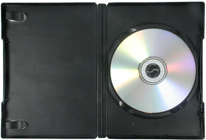 Amaray - Estuche para DVD/CD/BLU Ray (50 Unidades), Color Negro: Amazon.es: Electrónica